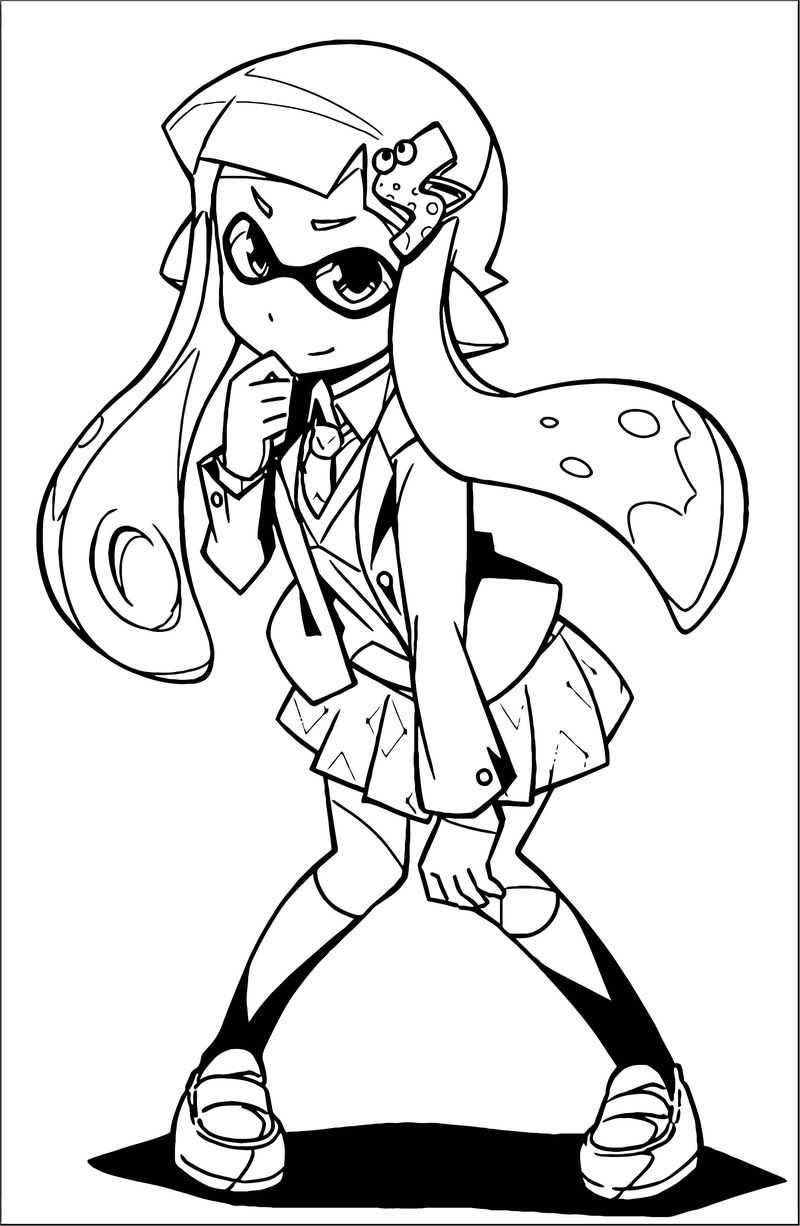 Squid Girl Coloring Page 165