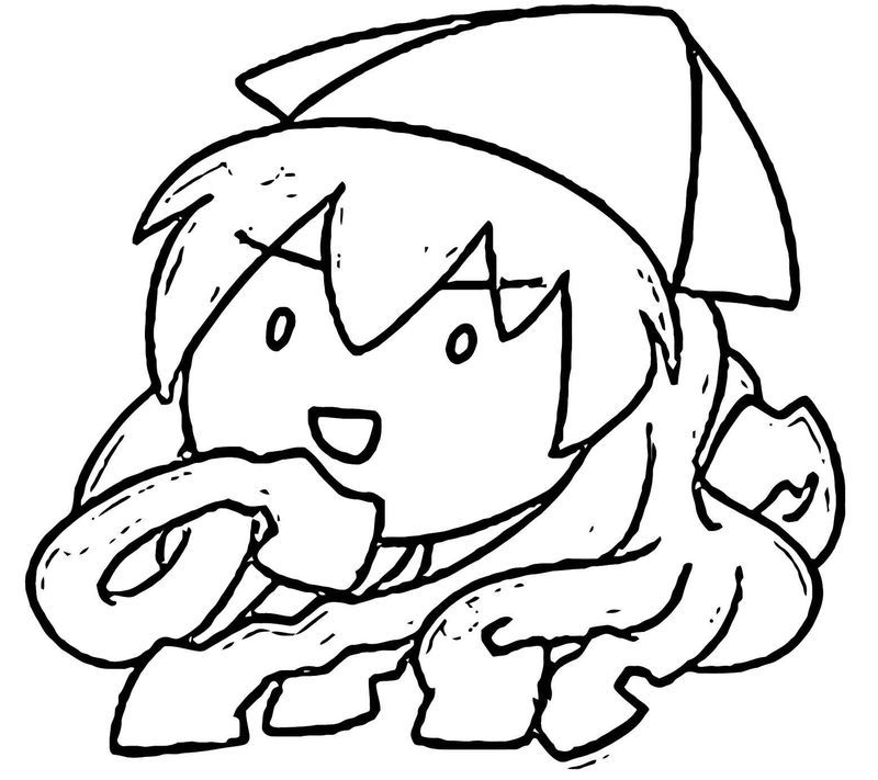 Squid Girl Coloring Page 171