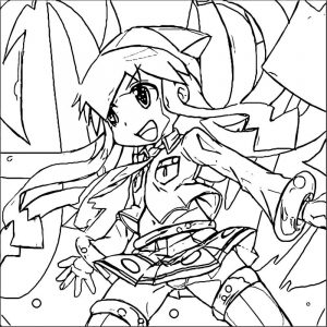 Squid girl coloring page 177