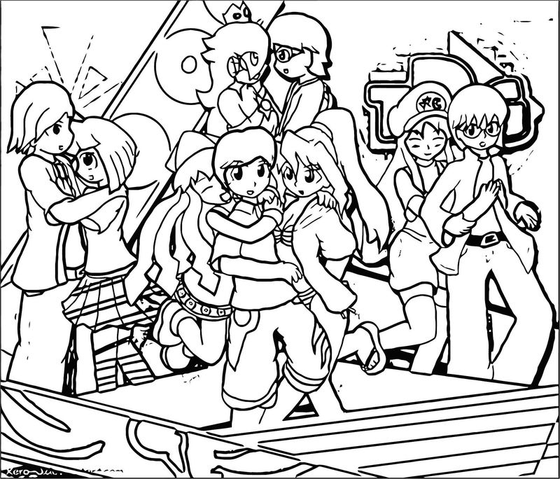 Squid Girl Coloring Page 183