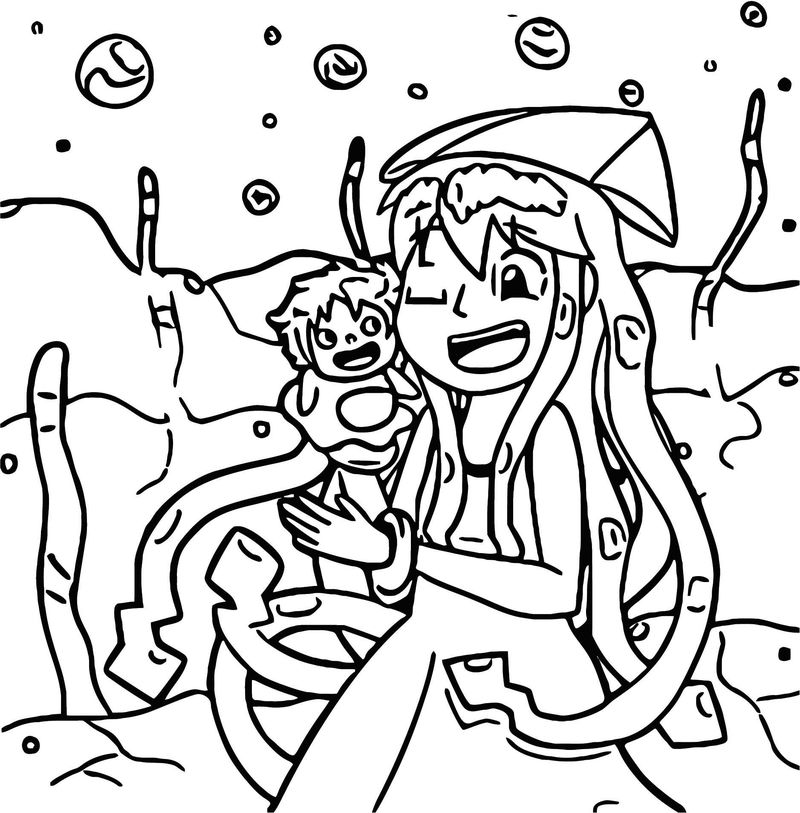 Squid Girl Coloring Page 191