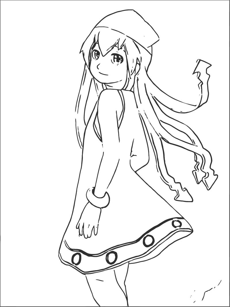 Squid Girl Coloring Page 192