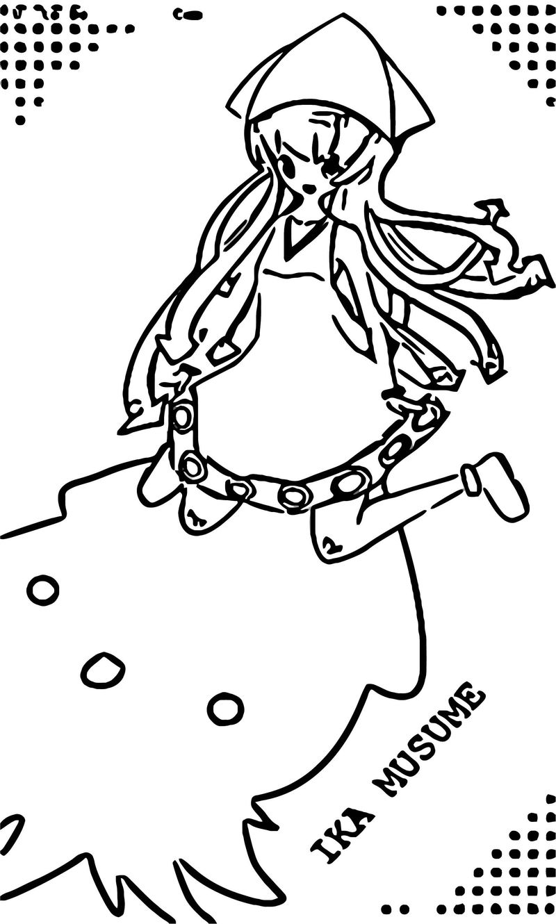 Squid Girl Coloring Page 197