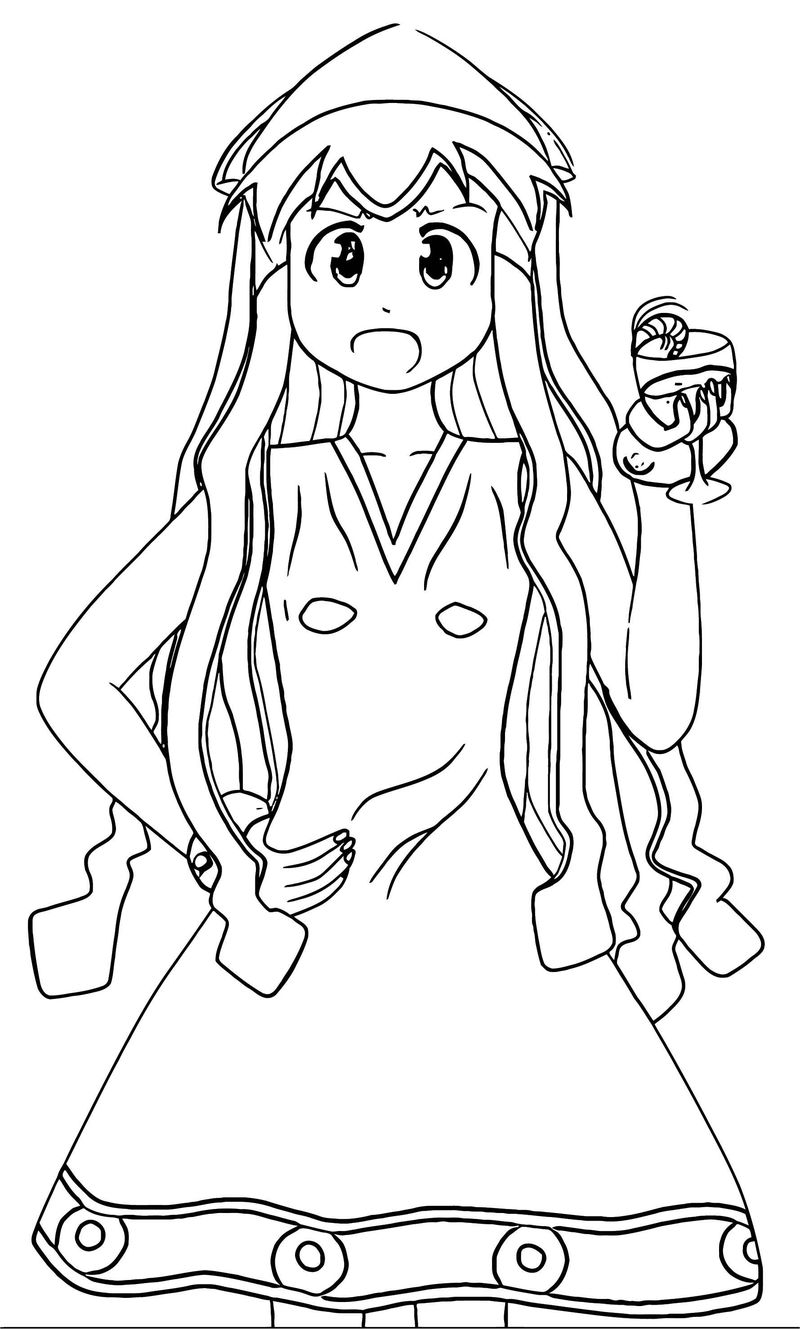 Squid Girl Coloring Page 202