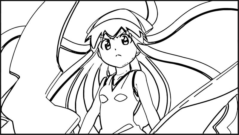 Squid Girl Coloring Page 208