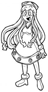 Squid girl coloring page 214