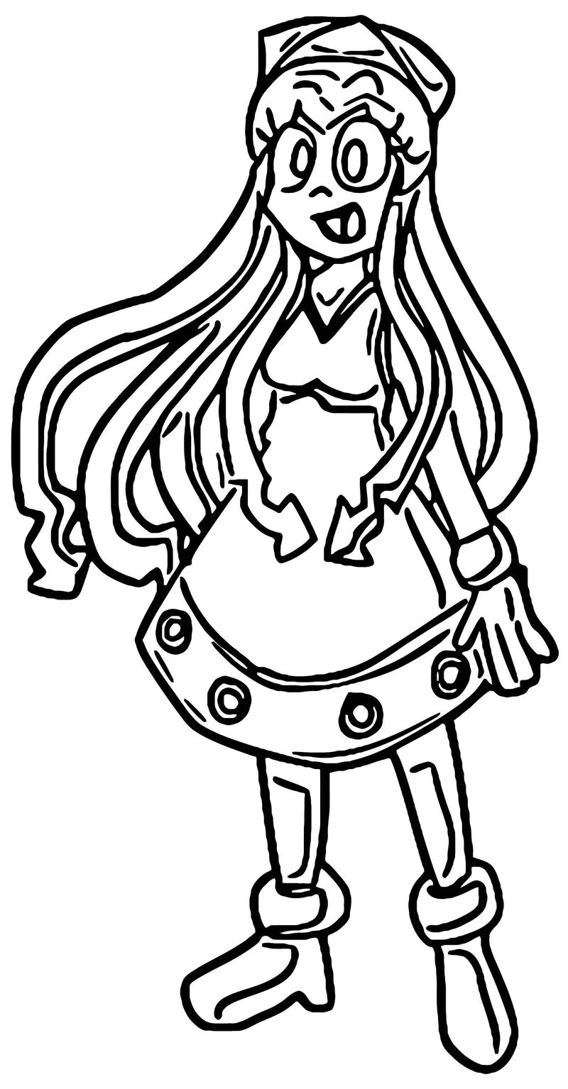 Squid Girl Coloring Page 215