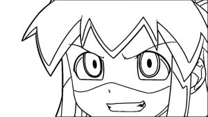 Squid girl coloring page 222