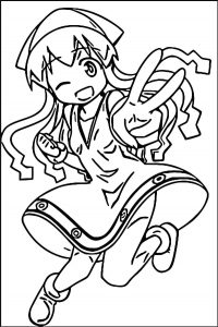 Squid girl coloring page 228