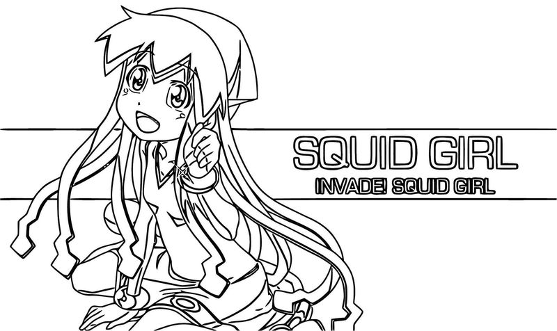 Squid Girl Coloring Page 242