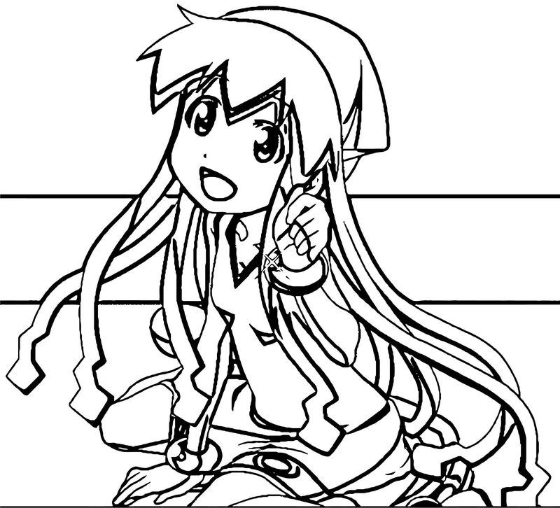Squid Girl Coloring Page 243