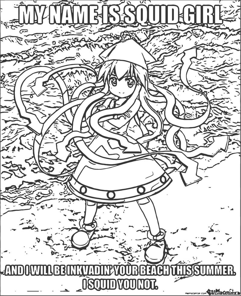 Squid Girl Coloring Page 245