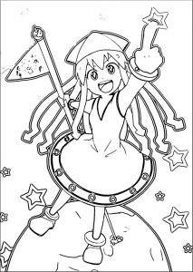 Squid girl coloring page 270