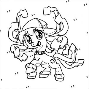 Squid girl coloring page 276
