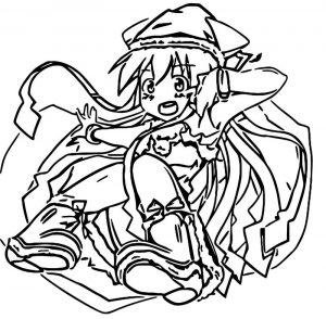 Squid girl coloring page 289