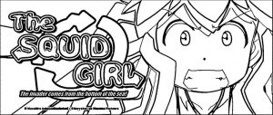 Squid girl coloring page 292