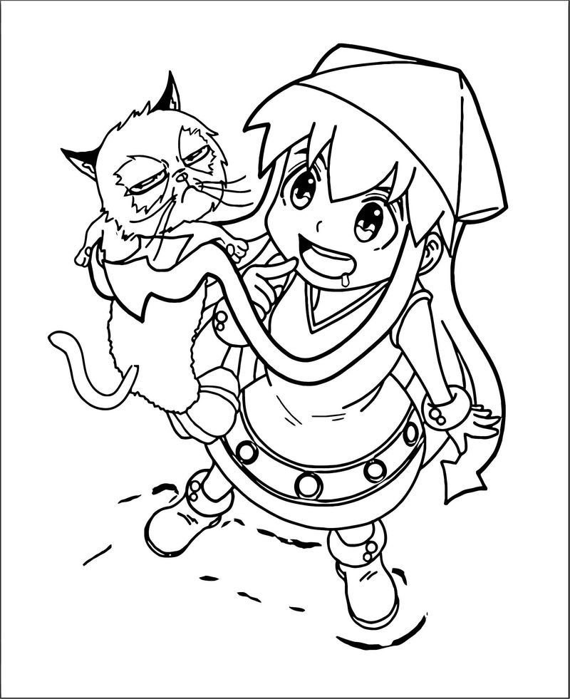 Squid Girl Coloring Page 343