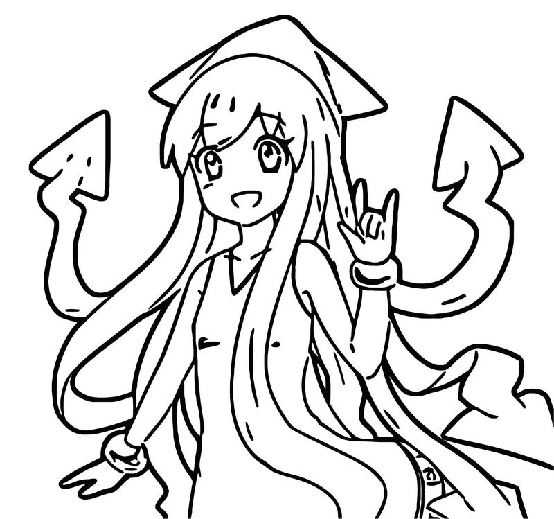 Squid Girl Coloring Page 352