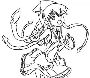 Squid girl coloring page 354