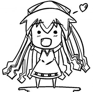 Squid girl coloring page 364