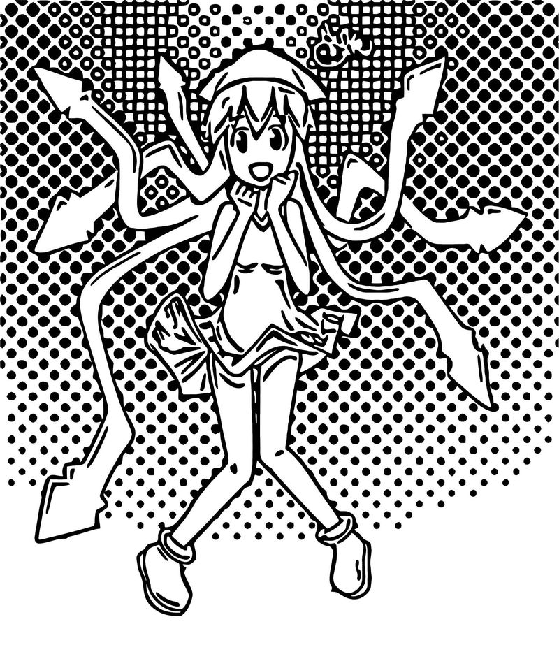 Squid Girl Coloring Page 369