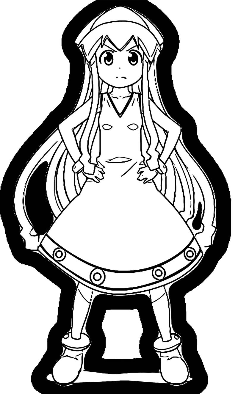 Squid Girl Coloring Page 370