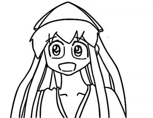 Squid girl doing el chavo s catchphrase cartoon coloring page
