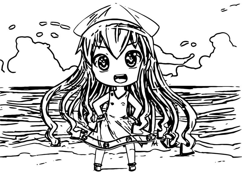 Squid Girl For Newspaperninja Coloring Page