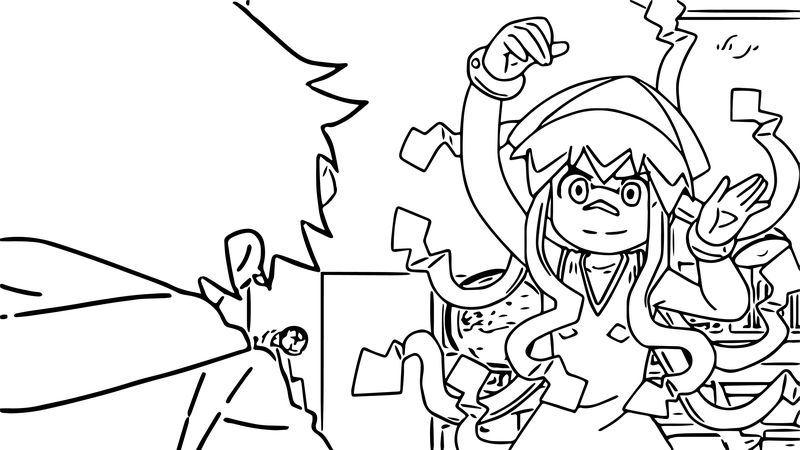 Squid Girl Look Coloring Page