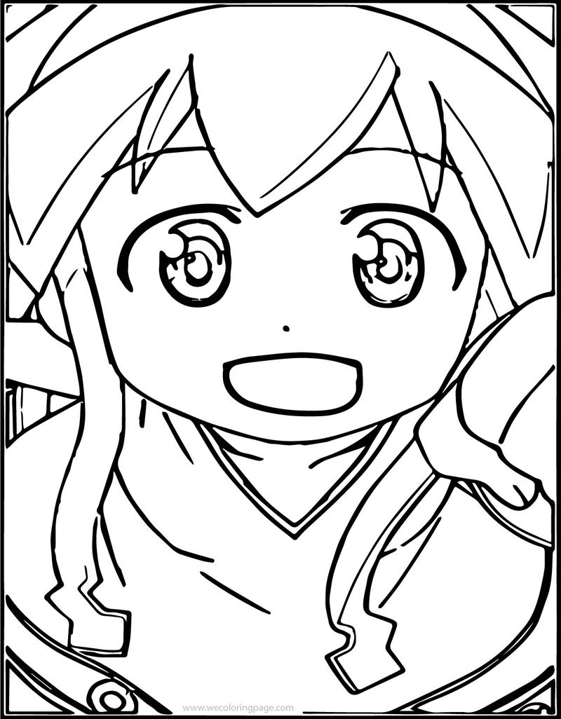 Squid Girl Near Coloring Page