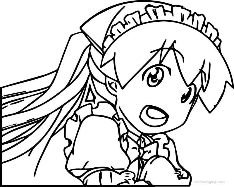Squid Girl Princess Coloring Page