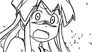 Squid girl shock scream coloring page