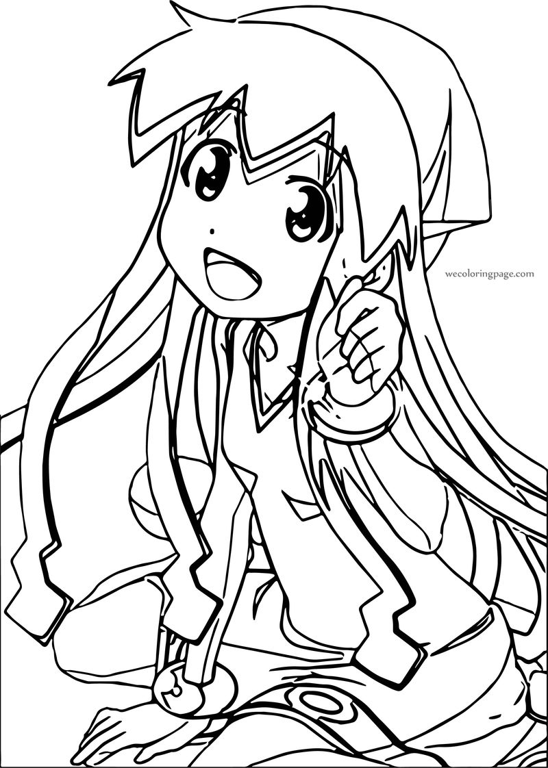 Squid Girl Teen Coloring Page
