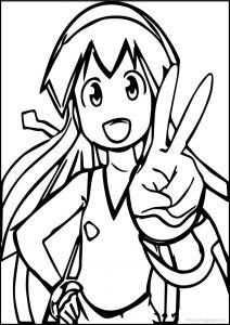 Squid girl yes coloring page