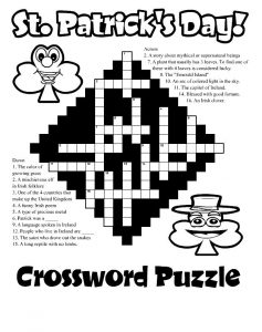 St patricks day crossword puzzles 1