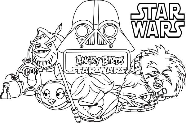 Star Wars Coloring Pages Angry Birds