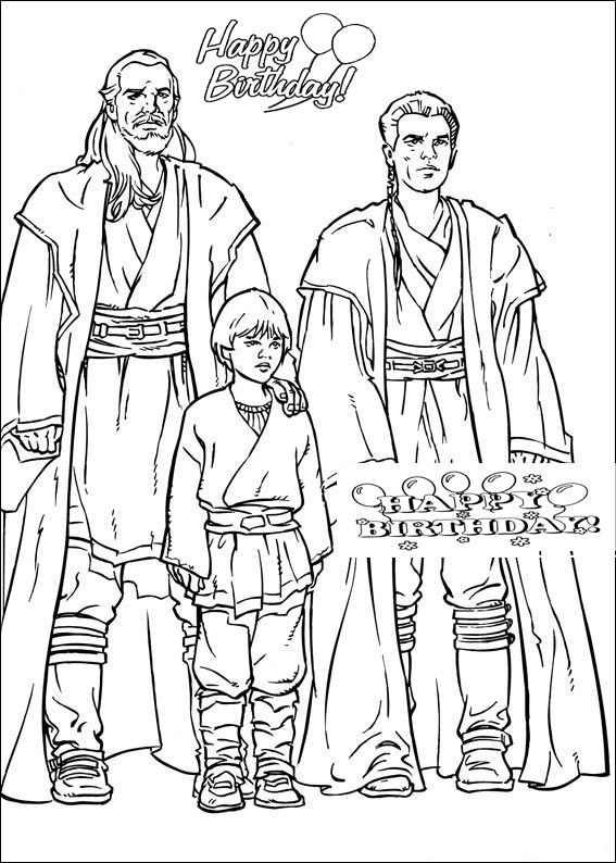 Star Wars Happy Birthday Coloring Pages