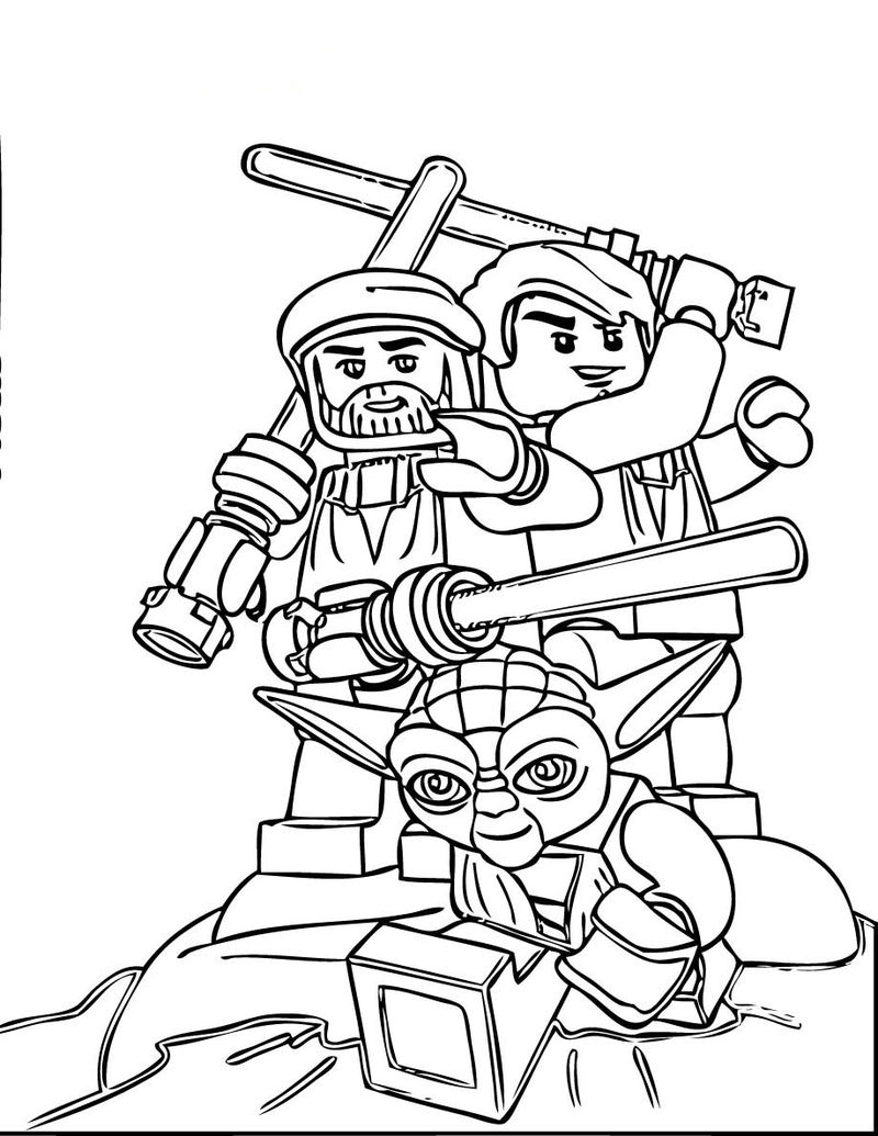 Star Wars Lego Coloring Pages 1