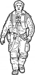 Star wars the force awakens poe dameron cartoon coloring page