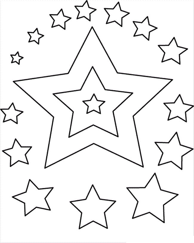 Stars Coloring Pages For Kids