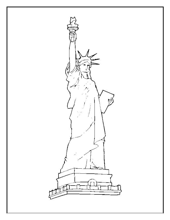 Statue Of Liberty Coloring Pages For Kids 001