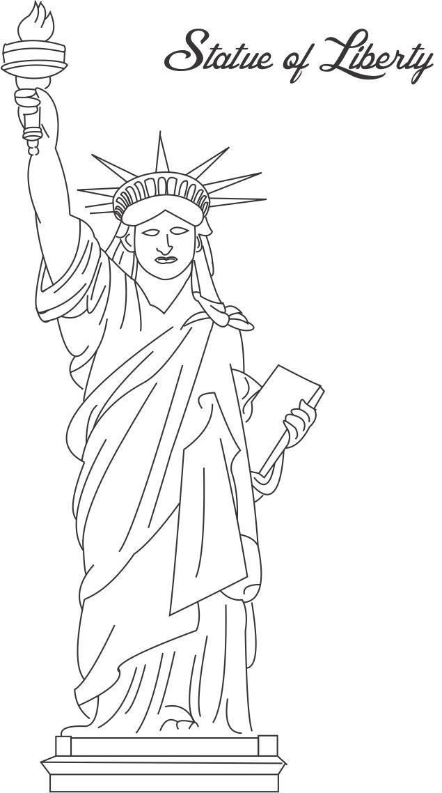 Statue Of Liberty Coloring Pages Kids 001
