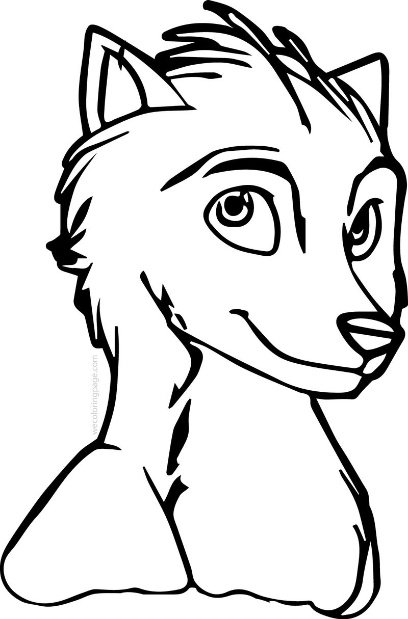 Stinky Alpha And Omega Wolf Coloring Page