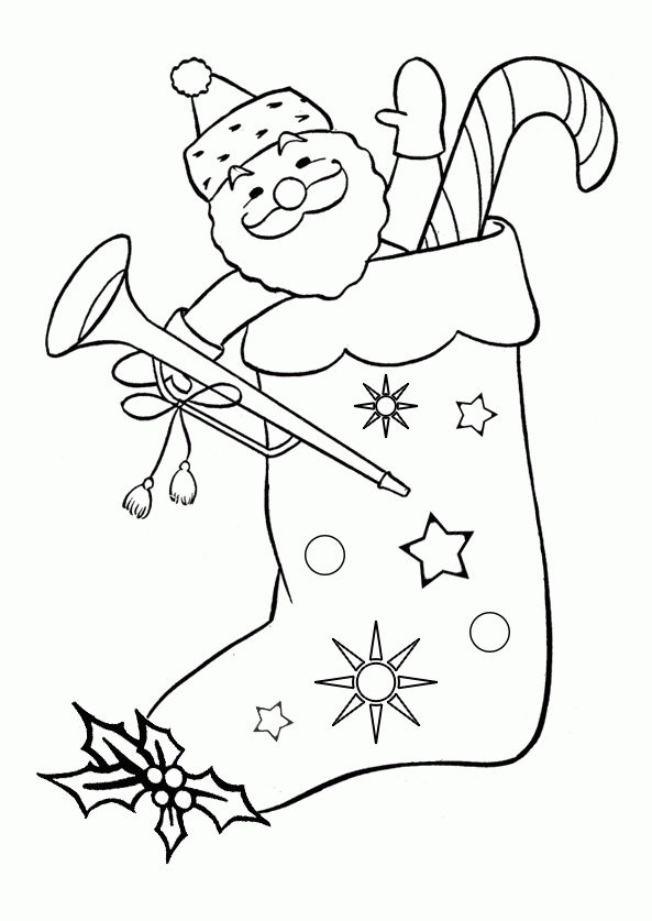 Stocking Stuffers Christmas Stocking Coloring Page ...
