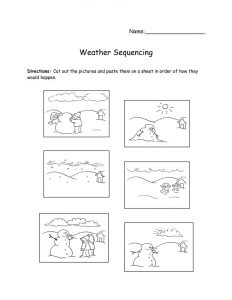 Story worksheets for kindergarten squencing