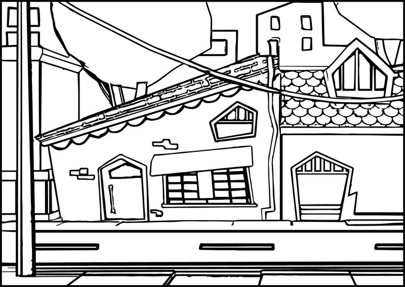 Street Cartoon Coloring Page