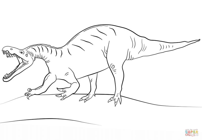 Suchomimus Dinosaur Coloring Pages