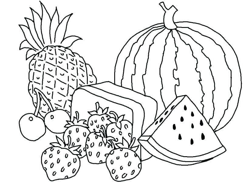 Summer Fruit Coloring Pages
