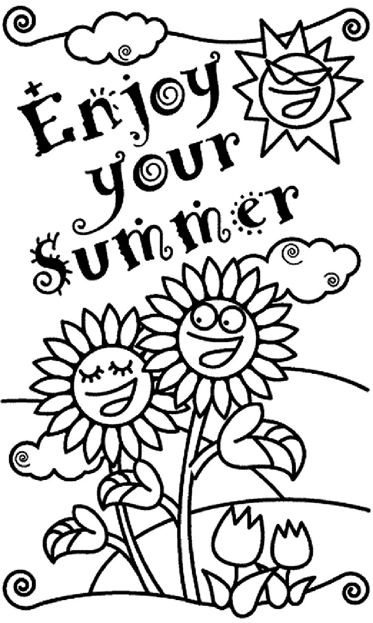 Summer Kindergarten Coloring Pages