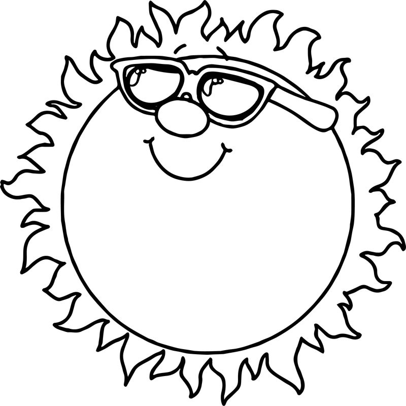 Summer Sun Coloring Page